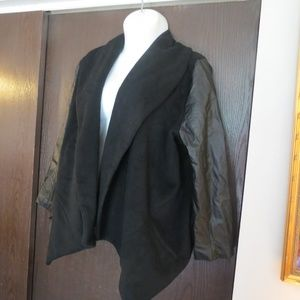 Plus Size Wool & Nappa Pig Lether Jacket